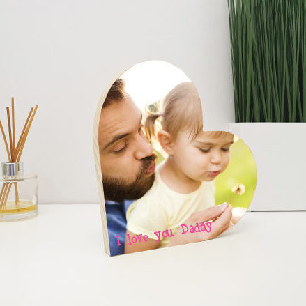 Personalised Wooden Heart with your own photos and images