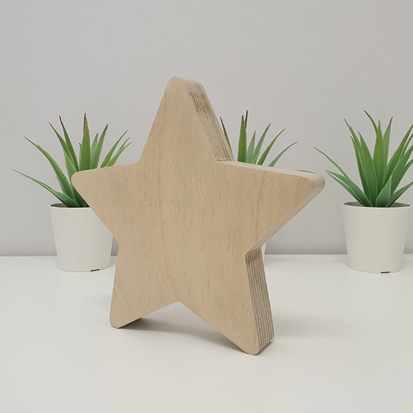 Personalised Wooden Star with your own photos and images