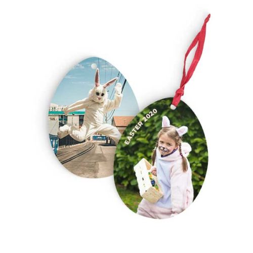 Personalised Easter Wooden Hanging Egg with your images